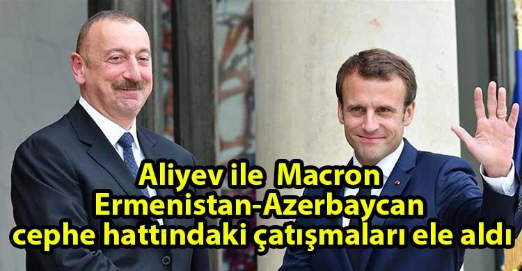 ozgur_gazete_kibris_Aliyev_ve_Macron_telefonda_gorustu