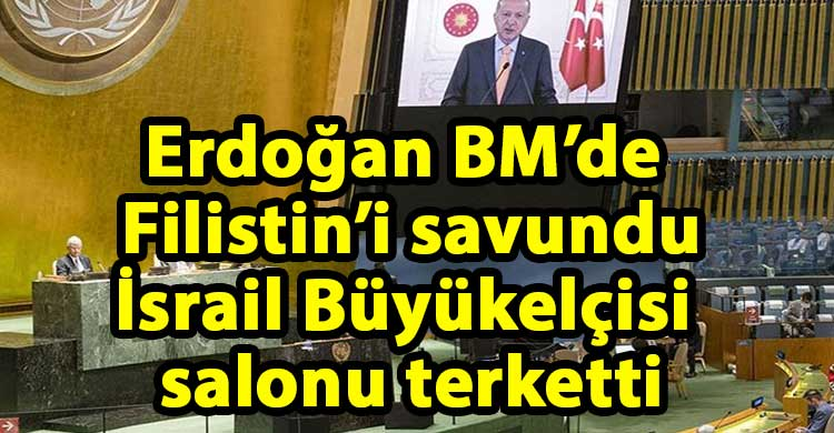ozgur_gazete_kibris_Erdogan_elestirdi_İsrail_Buyukelcisi_salonu_terketti