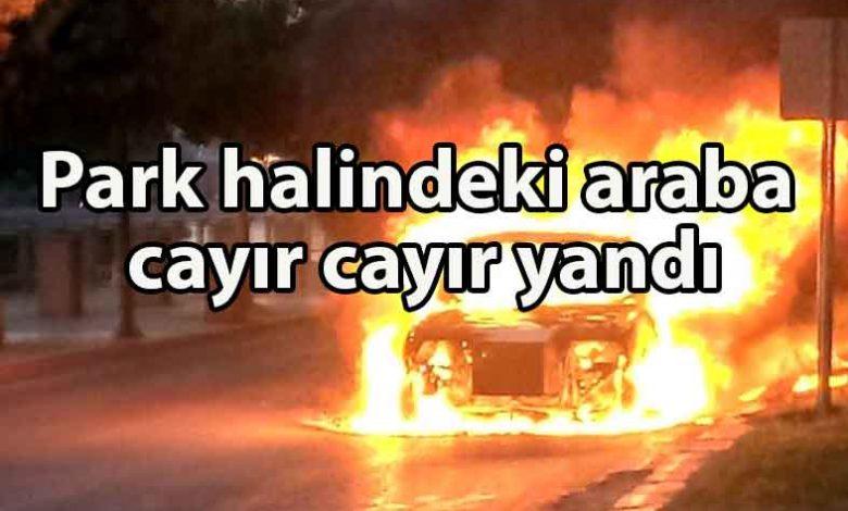 ozgur_gazete_kibris_Haspolat'ta_araç_yangını