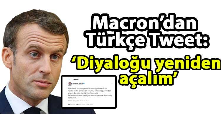 ozgur_gazete_kibris_Macron_dan_Turkce_tweet_Diyalogu_yeniden_acalim