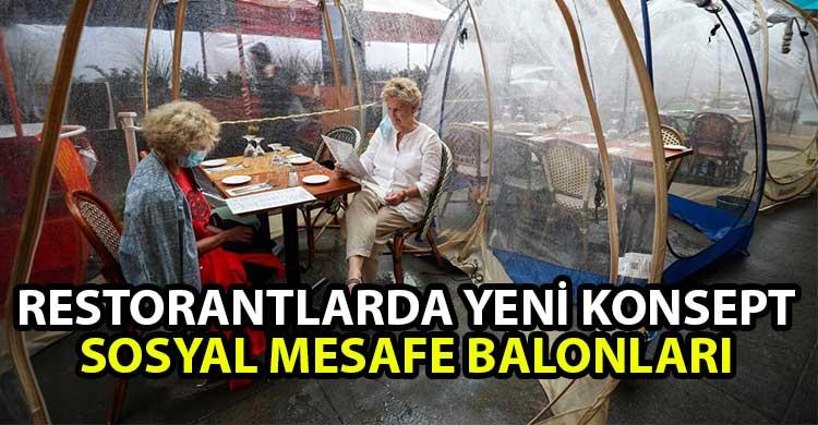 ozgur_gazete_kibris_Restoranlarda_yeni_konsept_Sosyal_mesafe_balonlari
