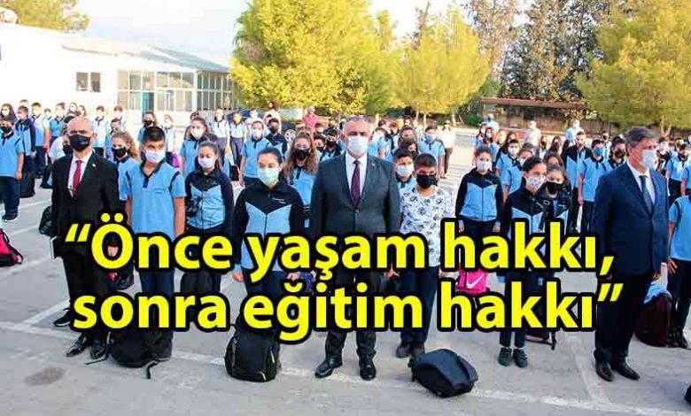 ozgur_gazete_kibris_Çavuşoğlu_Akdoğan_Polatpaşa_Lisesi'ni_ziyaret_etti