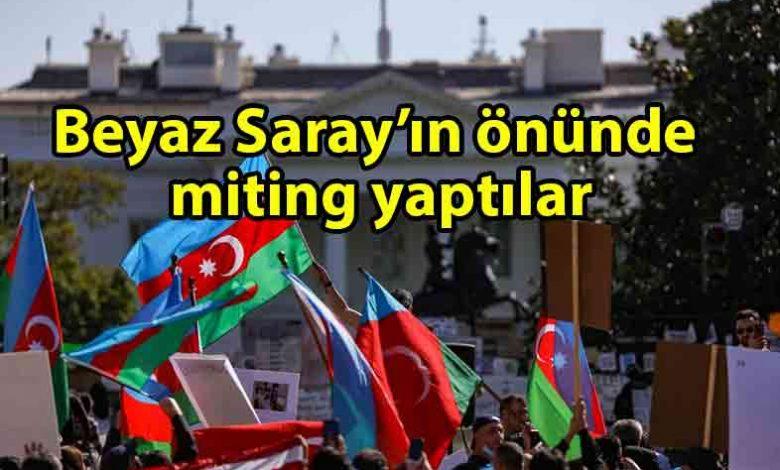 ozgur_gazete_kibris_Beyaz_Saray_önünde_Azerbaycan'a_destek_mitingi_düzenlendi