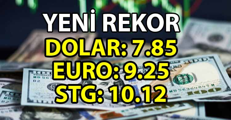ozgur_gazete_kibris_Dolar_Euro_ve_Sterlin_rekor_tazeledi