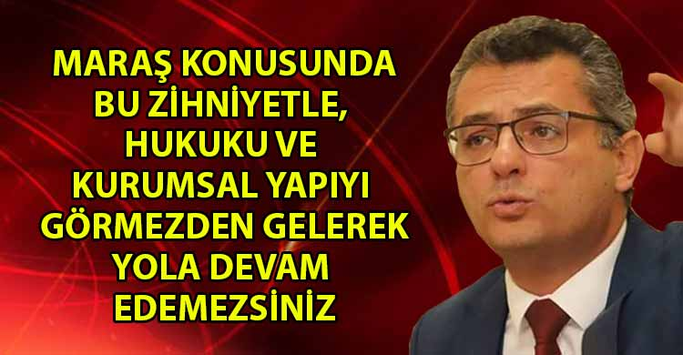 ozgur_gazete_kibris_Erhurman_Yola_devam_edebileceklerini_saniyorlarsa_cok_yaniliyorlar