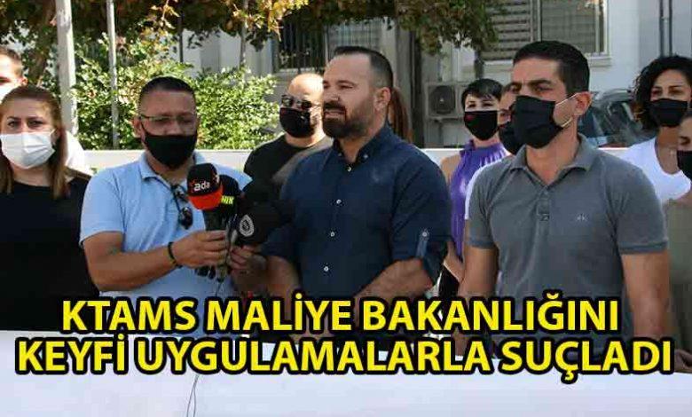ozgur_gazete_kibris_KTAMS_Maliye_Bakanlığı_önünde_eylem_yaptı