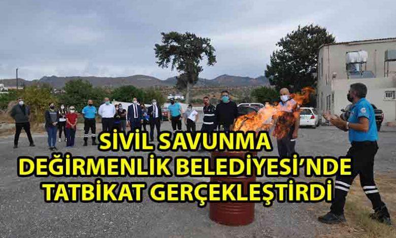ozgur_gazete_kibris_Değirmenlik_Belediyesi'nde_deprem_ve_yangın_tatbikatı