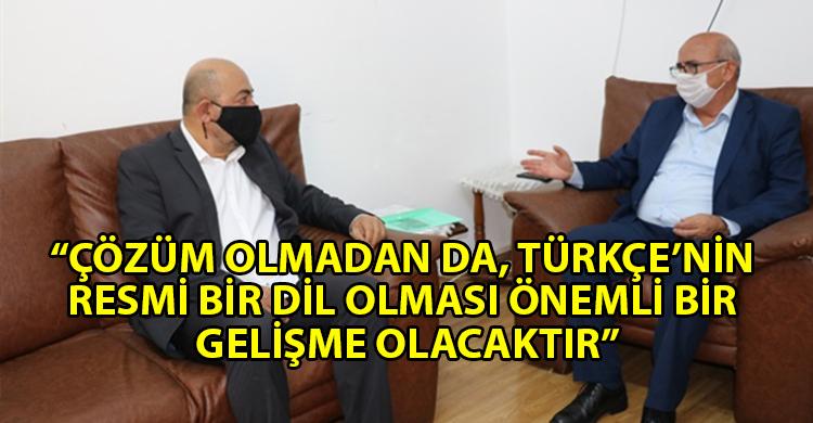ozgur_gazete_kibris_TDP_Genel_Başkanı_Özyiğit_AP_Milletvekili_Kızılyürek_ile_görüştü