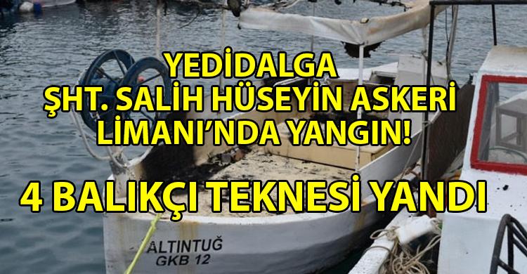 ozgur_gazete_kibris_Yedidalga'da_4-balıkçı_teknesi_yandı