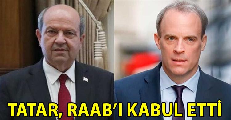 ozgur_gazete_kibris_Cumhurbaskani_Tatar_İngiltere_Disisleri_Bakani_Raab_i_kabul_etti