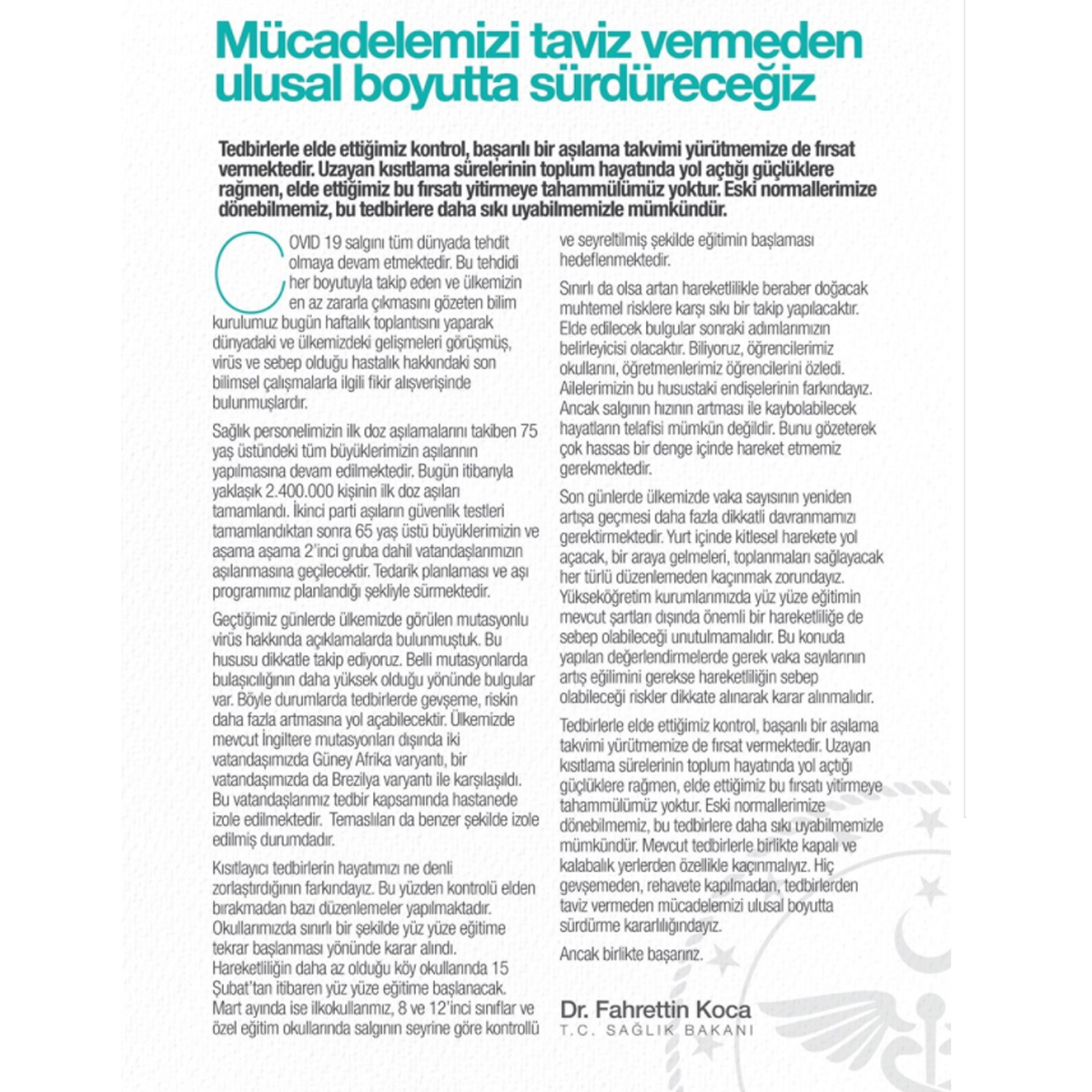 ozgur_gazete_kibris_SON_DAKİKA_G_Afrika_mutasyonu_Turkiye_de1