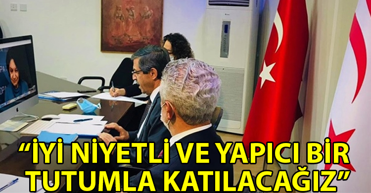 ozgur_gazete_kibris_Disisleri_Bakani_Ertugruloglu_Di_Carlo_ve_Lacroix_ile_gorustu
