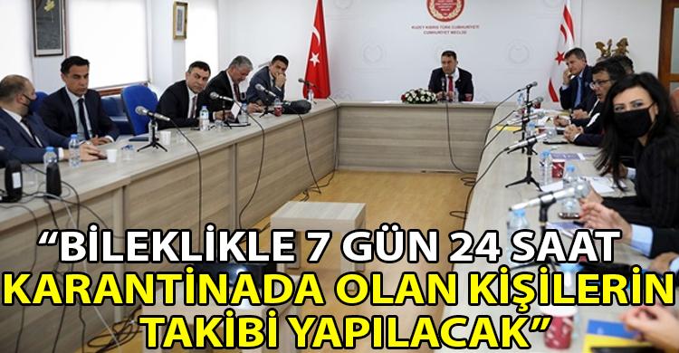 ozgur_gazete_kibris_Saner_Karantina_Takip_Platformu_siyasi_partilerin_bilgisine_getirdi