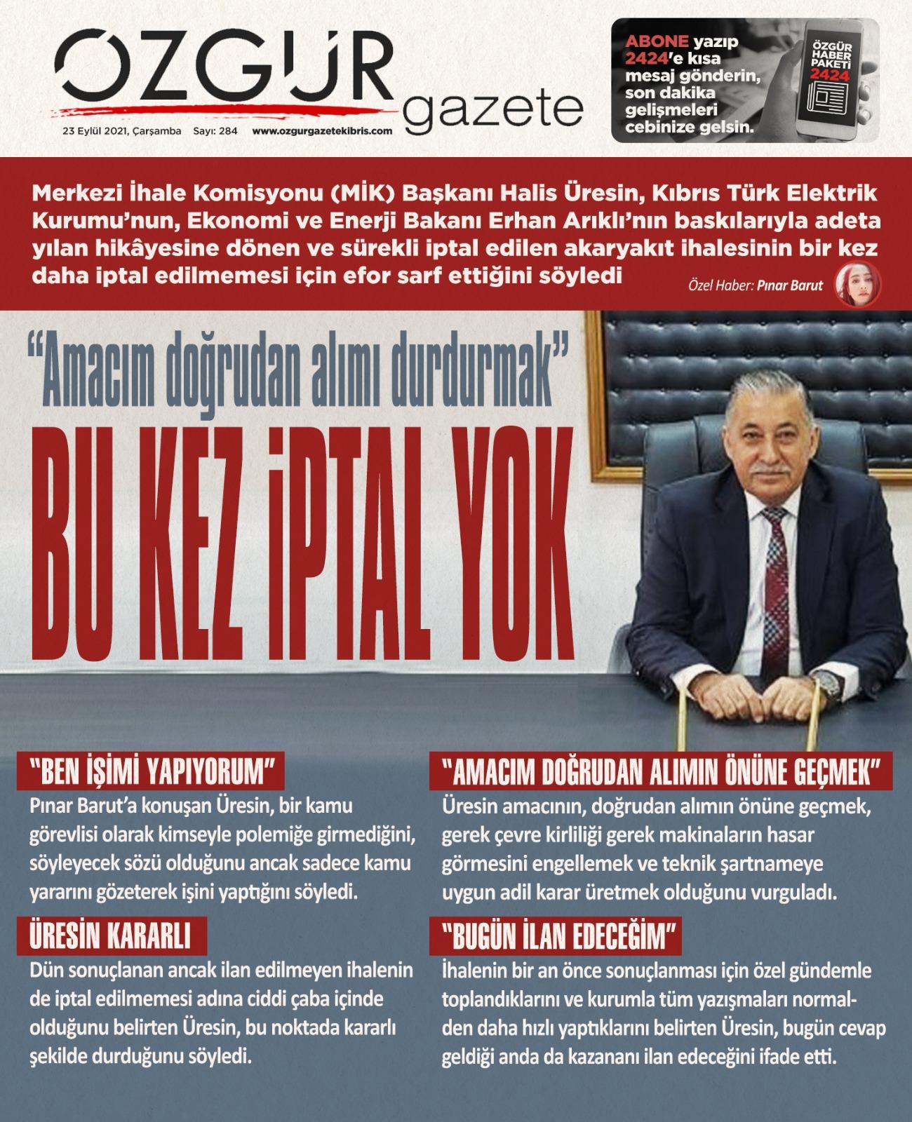 ozgur_gazete_kibris_manset_halis_uresin_kib_tek_ihale_