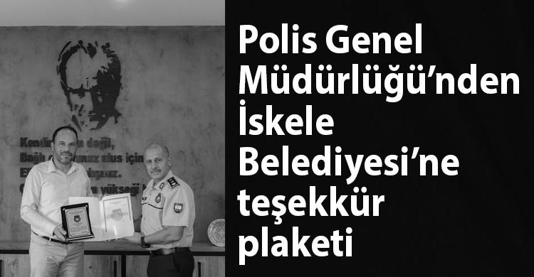 ozgur_gazete_kibris_iskele_belediyesine_tesekkur_plaketi