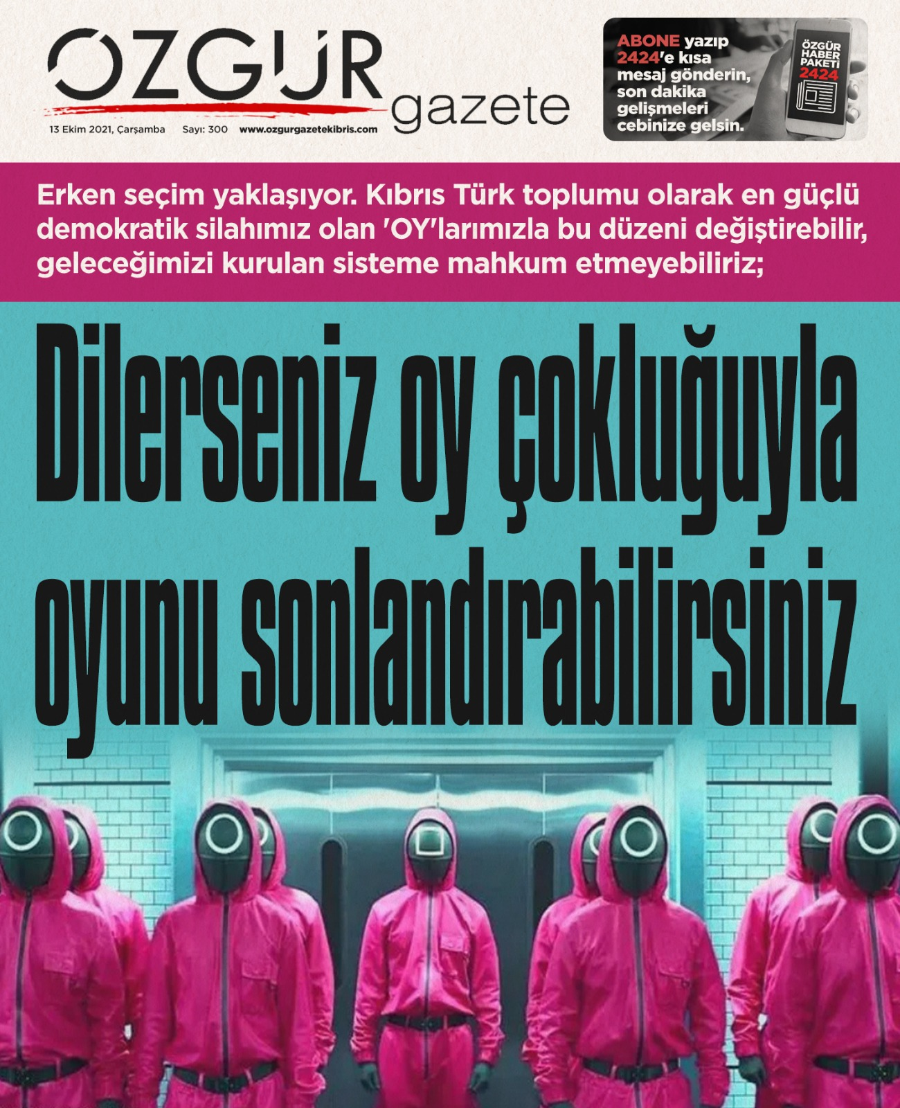 ozgur_gazete_kibris_erken_secim